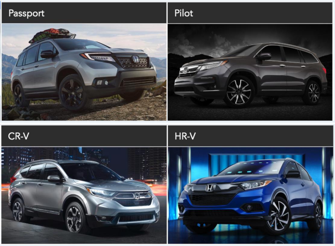 New Honda Suv >> New Honda Suv Models At Barker Honda In Houma La Barker